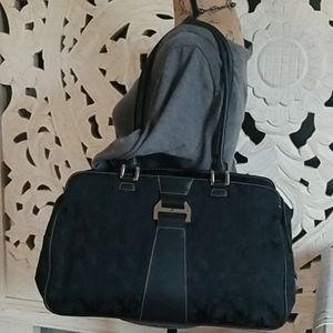 Etienne Aigner Black Signature Large Shoulder Bag